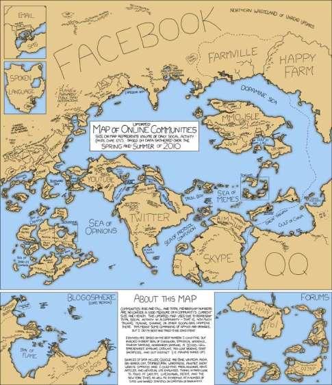 social media map post-facebook (2010)